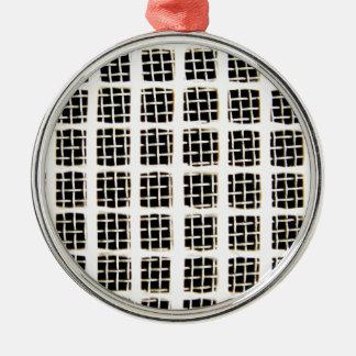 Draht-Kreis-abstrakter Kunst-Effekt-glatte Silbernes Ornament