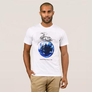 Drahtloser Ball-Maus| #jWe | großer blauer Marmor T-Shirt