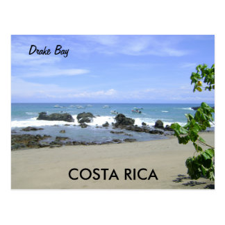 Drake-Bucht, Osa Halbinsel, Costa Rica-Postkarte Postkarte