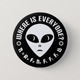 Drake-Gleichung gegen Fermi-Paradox-Astronomie Runder Button 5,1 Cm