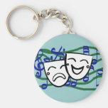Drama: das Musical Standard Runder Schlüsselanhänger