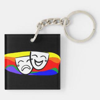 Drama: der Regenbogen-Wirbel Schlüsselanhänger