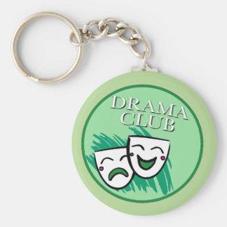 Drama-Verein-Abzeichen im Grün Schlüsselanhänger