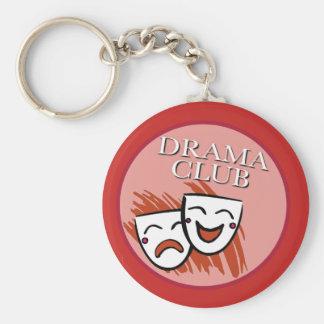 Drama-Verein-Abzeichen im Rot Schlüsselanhänger