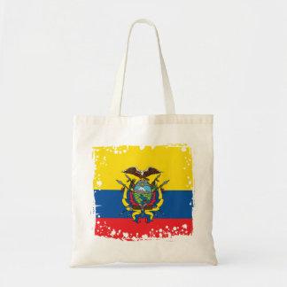 Drapeau abstrait de l'Equateur, République de sac