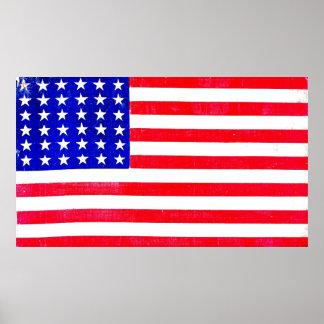 Drapeau américain 1865 de guerre civile