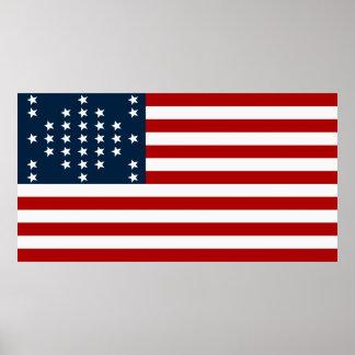 Drapeau américain de guerre civile de Sumter de fo Poster