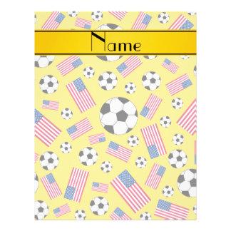 Drapeau américain personnalisé du football jaune prospectus 21,6 cm x 24,94 cm