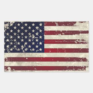 Drapeau américain sticker rectangulaire