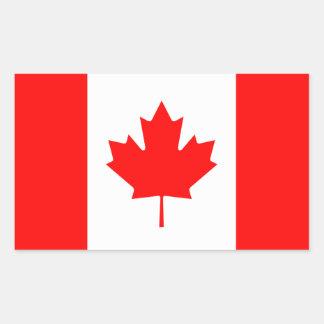 Drapeau canadien sticker rectangulaire