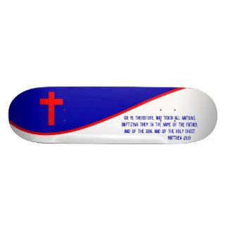 Drapeau chrétien inspiré skateboards personnalisables