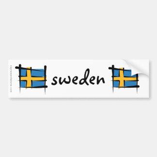 Drapeau de brosse de la Suède Autocollant De Voiture