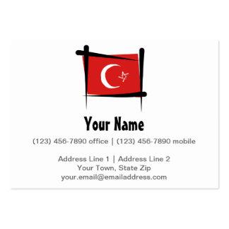 Drapeau de brosse de la Turquie Carte De Visite Grand Format