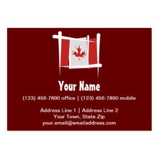 Drapeau de brosse du Canada Carte De Visite Grand Format