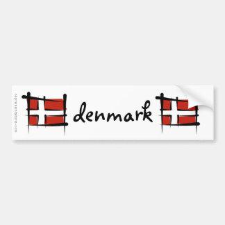 Drapeau de brosse du Danemark Adhésifs Pour Voiture