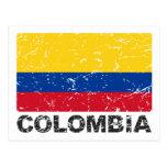 Drapeau de cru de la Colombie Carte Postale