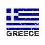Drapeau de cru de la Grèce Cartes Postales