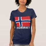 Drapeau de cru de la Norvège T-shirt