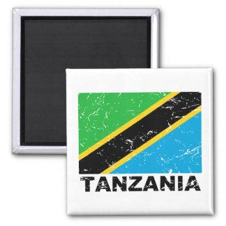 Drapeau de cru de la Tanzanie Aimant Pour Réfrigérateur
