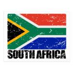 Drapeau de cru de l'Afrique du Sud Carte Postale