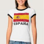 Drapeau de cru de l'Espagne Tee-shirts