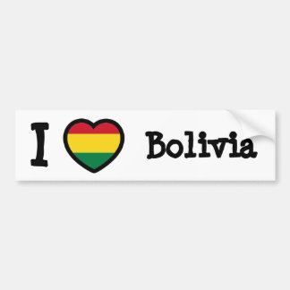 Drapeau de la Bolivie Adhésif Pour Voiture