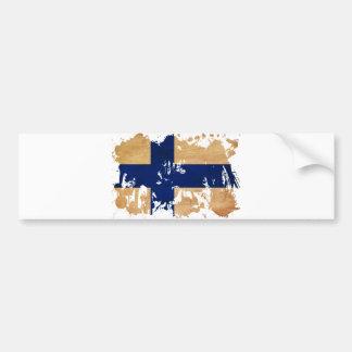 Drapeau de la Finlande Autocollant De Voiture