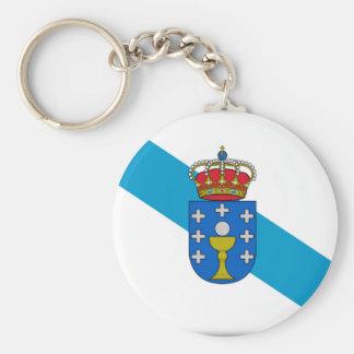 Drapeau de la Galicie (Espagne) Porte-clé