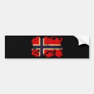 Drapeau de la Norvège Autocollant De Voiture
