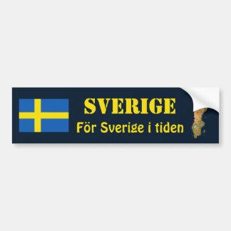 Drapeau de la Suède + Adhésif pour pare-chocs de Autocollant De Voiture