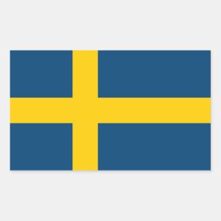 Drapeau de la Suède Stickers Rectangulaires