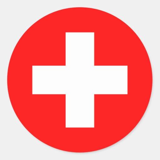 Drapeau de la Suisse Autocollant