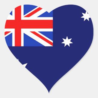 Drapeau de l'Australie Sticker Cœur