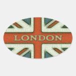 Drapeau de Londres R-U Sticker Ovale