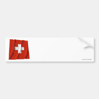 Drapeau de ondulation de la Suisse Autocollant De Voiture
