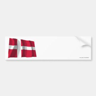 Drapeau de ondulation du Danemark Autocollants Pour Voiture