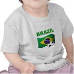 Drapeau de T-shirt de coupe du monde du Brésil