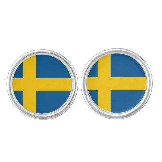 Drapeau des boutons de manchette de la Suède
