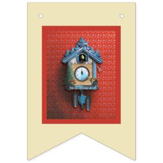 Drapeau d'étamine d'horloge de coucou de Noël