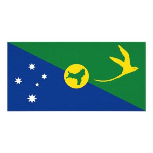 Drapeau d'Île Christmas de l'Australie Cartes Avec Photo