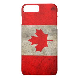 Drapeau du Canada dans la grunge Coque iPhone 7 Plus
