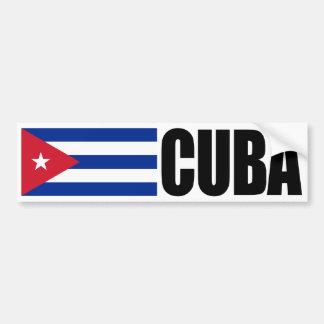 Drapeau du Cuba Autocollant De Voiture