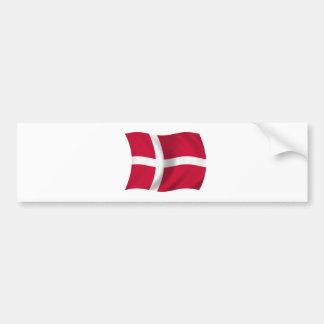 Drapeau du Danemark Adhésif Pour Voiture