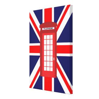 Drapeau d'Union Jack de boîte de téléphone des Toiles Tendues Sur Châssis