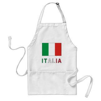 Drapeau et mot de l Italie Tablier