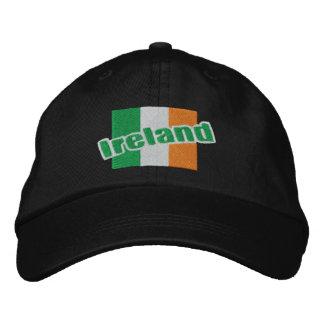 Drapeau et texte patriotiques irlandais de casquettes de baseball brodées