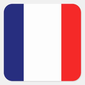 Drapeau français sticker carré