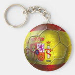 Drapeau grunge d'Espagnol de boule du football de