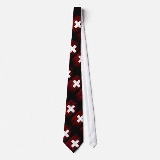 Drapeau grunge noir de la Suisse Cravate