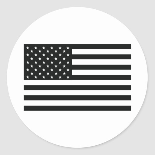 drapeau noir d'obama Amérique Etats-Unis Autocollant Rond